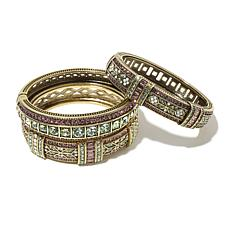 "Heidi Daus ""Everyday Elegance"" 3pc Bangle Bracelet Set"