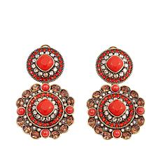 "Heidi Daus ""Exotic Artistry"" Crystal Drop Earrings"