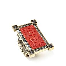 "Heidi Daus ""Exotique Chinoiserie"" Carved Ring"