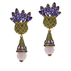 "Heidi Daus ""Expression of Love"" Crystal Drop Earrings"