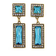 "Heidi Daus ""Fabulous Fancy Cut"" Crystal Drop Earrings"