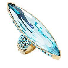 "Heidi Daus ""Fabulous Feng Shui"" Crystal Marquise Ring"