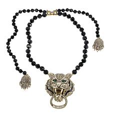 "Heidi Daus ""Feline Intuition"" Beaded Drop Necklace"