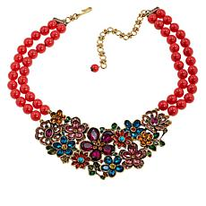 "Heidi Daus ""Flower Show"" 2-Strand Beaded Crystal Drop Necklace"