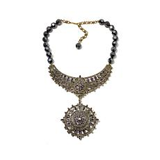 "Heidi Daus ""French Twist"" Necklace with Removable Pin"