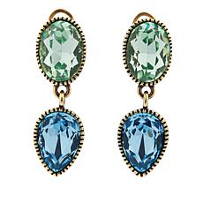 "Heidi Daus ""Glorious Garden"" Crystal Drop Earrings"
