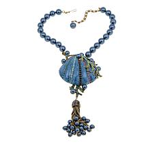 "Heidi Daus ""Goddess of the Sea"" Enamel and Crystal Drop Necklace"