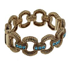 "Heidi Daus ""Gorgeous Rocks"" Hinged Bangle Bracelet"