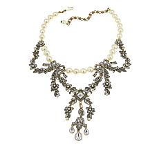 "Heidi Daus ""Guilded Garland"" Beaded Crystal Drop Necklace"