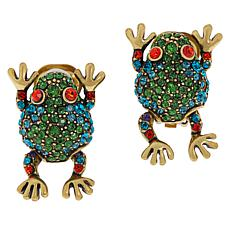 "Heidi Daus ""Hanging By My Toads"" Pavé Crystal Earrings"