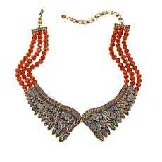 "Heidi Daus ""Heidi's Angels"" 3-Row Crystal Bib Necklace"