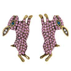 """Heidi Daus """"Honey Bunny"""" Pavé Crystal Earrings"""
