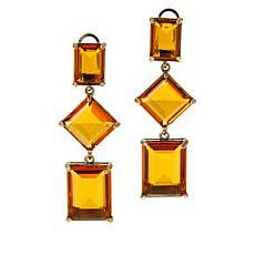 "Heidi Daus ""Hot Rocks"" Geometric Dangle Earrings"