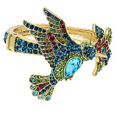 "Heidi Daus ""Hummingbird"" Crystal Bypass Bangle Bracelet"