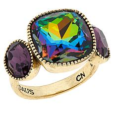 """Heidi Daus """"I Want Candy"""" Cushion and Oval Ring"""