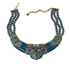 "Heidi Daus ""Ideal Beauty"" Crystal and Enamel Drop Necklace"