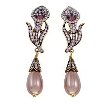 "Heidi Daus ""Innocence and Grace"" Crystal Drop Earrings"