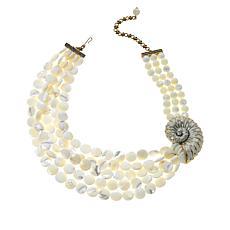 "Heidi Daus ""Island Elegance"" Mother-of-Pearl & Crystal Beaded Necklace"