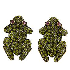 "Heidi Daus ""Kissing Frog"" Pavé Crystal Earrings"