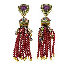 "Heidi Daus ""Lavish Lariat"" Tassel Drop Earrings"