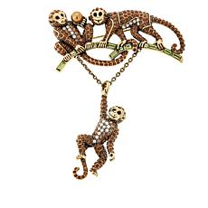 "Heidi Daus ""Life's a Barrel of Monkeys"" Crystal Pin"