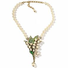 "Heidi Daus ""Lily of the Valley"" Beaded Crystal Drop Necklace"