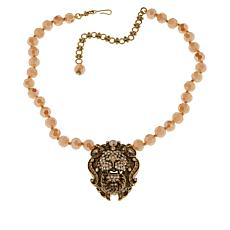 "Heidi Daus ""Lovely Lion"" Crystal Bead Necklace"