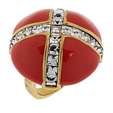 "Heidi Daus ""Madison & 68th"" Enamel and Crystal Ring"