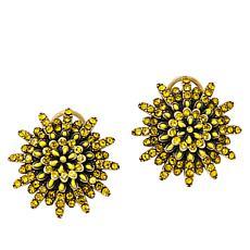 """Heidi Daus """"Make a Wish"""" Pavé Crystal Flower Earrings"""