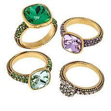 "Heidi Daus ""Master Pieces"" 4-piece Crystal Ring Set"