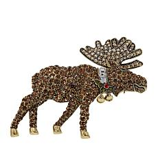 "Heidi Daus ""Merry Moose"" Crystal Pin"