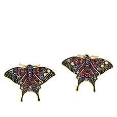 """Heidi Daus """"Modern Monarch"""" Multi-Color Crystal Earrings"""
