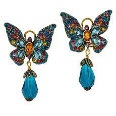"""Heidi Daus """"Monarch Magic"""" Butterfly Earrings"""