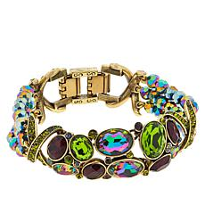 Heidi Daus Multi-Color Crystal X-Design Collar Bracelet