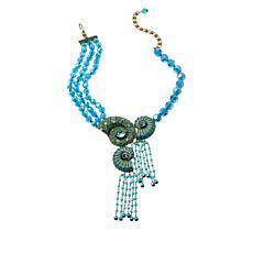 """Heidi Daus """"Ocean Blooms"""" Crystal Beaded Dangle Necklace"""