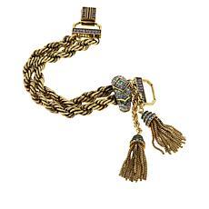 """Heidi Daus """"Old School Jewels"""" Crystal Chain Bracelet"""