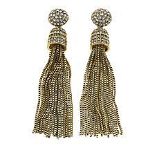 """Heidi Daus """"Old School Jewels"""" Tassel Drop Earrings"""