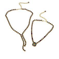 "Heidi Daus ""On-Line"" 2-piece Necklace Set"