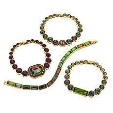 "Heidi Daus ""On-Line"" 4-piece Bracelet Set"