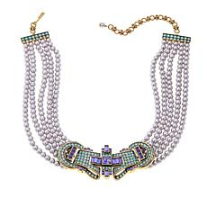 "Heidi Daus ""Orient Express"" Beaded Choker Necklace"