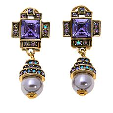 "Heidi Daus ""Orient Express"" Crystal Drop Earrings"