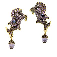 "Heidi Daus ""Ornament of the Sea"" Crystal Drop Earrings"
