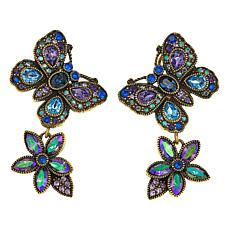"Heidi Daus ""Painted Princess"" Crystal Drop Earrings"