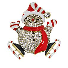 "Heidi Daus ""Peppermint Paddy"" Enamel and Crystal Pin"
