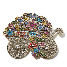 "Heidi Daus ""Petal Pusher"" Crystal Pin"