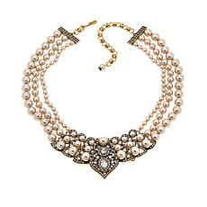 "Heidi Daus ""Power and Poised"" 3-Strand Drop Necklace"