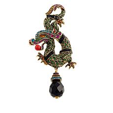 "Heidi Daus ""Power Presence"" Crystal-Accented Dragon Pin"