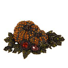 "Heidi Daus ""Pretty Pumpkin Patch"" Crystal Pin"