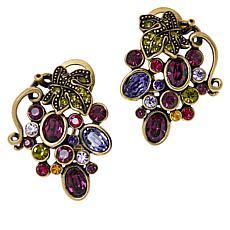 "Heidi Daus ""Que Shiraz"" Big Grapes Crystal Earrings"