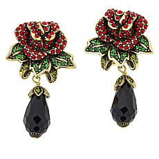 "Heidi Daus ""Queen of Hearts"" Crystal Drop Earrings"